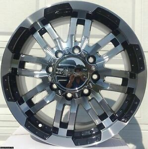 4 Warrior Wheels 18 Inch Rims For Dodge Ram 2500 3500 8 Lug Rim 103