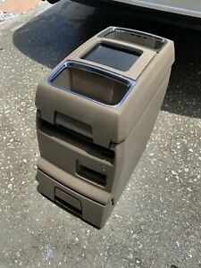 08 14 Caravan Town Country Routan Center Console Arm Rest Drink Tray Beige