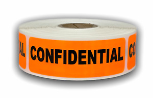 10 Rolls Br orange Confidential Hwc Fragile Shipping Stickers 1 x 3 300 Labels