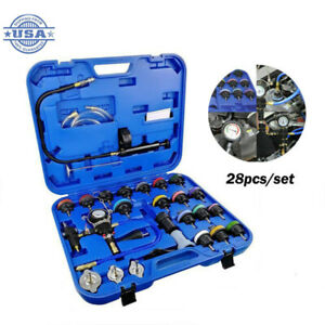28pieces Radiator Pressure Tester Kit Set Coolant Vacuum Type Cooling System Us