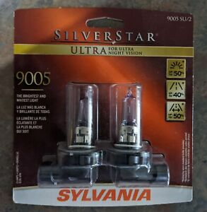 Nib Sylvania Silverstar Ultra 9005 Su 2 Headlight Bulbs 9005su2 Silver Star Pair