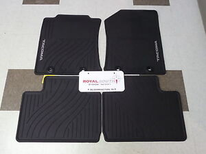 Toyota Tacoma 2015 Acc Cab Factory All Weather Rubber Floor Mats Genuine Oem Oe