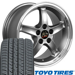 17x10 5 17x9 Rims Tires Fit Mustang Cobra R Style Gunmetal Wheels Toyo Tire