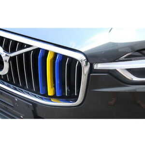 2 Color Car Abs Front Center Grille Grill Cover Trim For Volvo Xc60 2018 2020