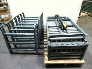 Hytrol Gravity Roller Ball Conveyor With Legs And Lift Gate