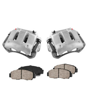Front Brake Calipers Pads For 2005 2006 2007 2008 2009 2010 Ford Mustang V8 Gt