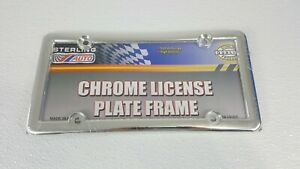 2 New Chrome Color Auto License Plate Holder Frame One Pair