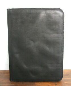 10 x13 5 Wilsons Leather Black Leather Card Holder Planner Organizer Portfolio