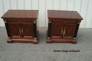 60639 Pair Neo Classical Nightstand End Table Stand W Pull Outs