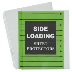 Side Loading Polypropylene Sheet Protector Clear 11 X 8 5 50 bx Set Of