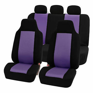 Highback Seat Covers Seat For Auto Car Suv Van Full Set Purple Black