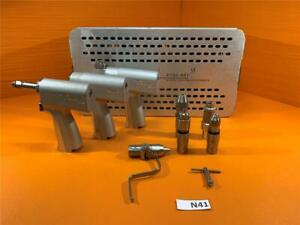 Stryker System 5 Set 4206 4103 4208 With 5 Attachments And Case 4102 451