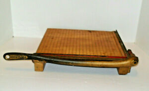 Vintage 1950 s Ingento No 4 Wooden Paper Cutter Photo Trimmer Good Condition
