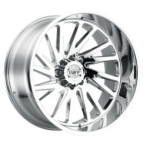 Tuff At Dodge Ram Gmc Chevy 2500 Trucks Wheels Rims T2a Chrome 22x12 8x6 5 1 Ea
