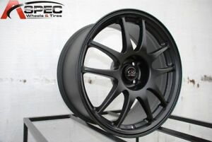16x7 Rota Torque 4x100 27 Flat Black Wheels set Of 4