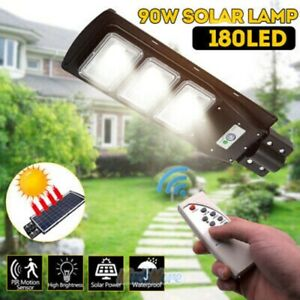 220000LM Commercial Solar Street Light LED Outdoor IP67 Dusk-to-Dawn Road Lamp $54.85