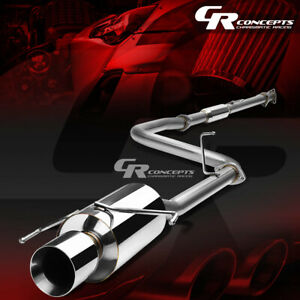 4 Muffler Rolled Tip Catback Exhaust System For 97 01 Honda Prelude H22a4 Coupe