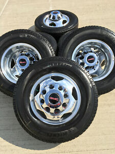 17 Gmc Sierra Chevy 3500 Dually Alcoa 2019 Rims Wheels Oem 5519 5520 2018 2020