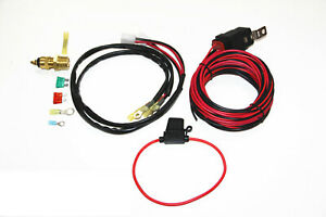 Daul Electric Cooling Fan Wiring Install Kit 185 165 Thermostat 50 Amp Relay