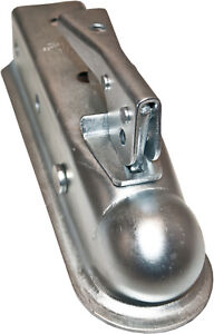 Bolt On Trailer Coupler With 2 Ball And 3500 Lbs Capacity