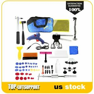 78pc Paintless Dent Repair Puller Lifter Tools Hammer Removal Glue Tabs Kit New