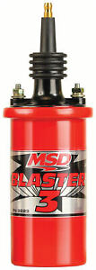Msd 8223 Ignition Coil Blaster 3 Series 90 Degree Terminal boot Red