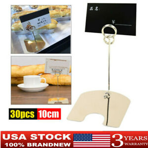 30pcs Table Sign Holder Display Clip Label Price Name Card Tag Stand Bakery Clip