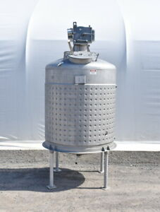 800 Gallon Jacketed Stainless Steel Mixing Tank