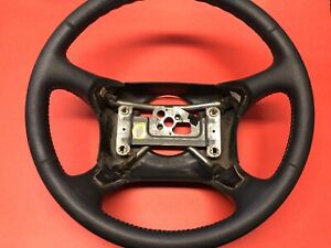 1995 1997 Chevy Silverado Tahoe Blazer Steering Wheel Leather Gray Used Oem