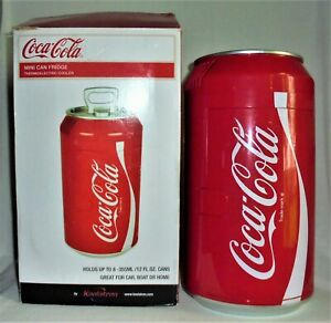 COCA-COLA Mini Fridge RETRO CAN COOLER Portable Thermoelectric NO NOISE COOLING