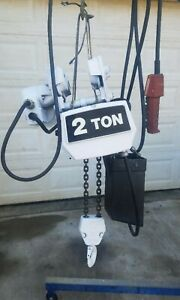 Coffing 2 Ton Electric Chain Hoist With Motorized Trolley