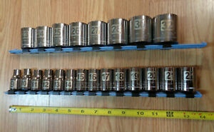 Usa Made Craftsman 1 2 Drive Metric Socket Set Large 22p Easy Read Laser Etched