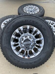 18 Inch Ford F 250 F 350 Oem 2019 2020 Chrome Rims Wheels Tires 2018 10097 New