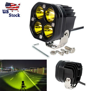 3 Inch Spot Led Work Light Pods For 4x4wd Off Road Car Driving Yellow Spotlights