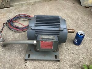 5 Hp U s Electric Motor 184 T Frame 3 Phase Used