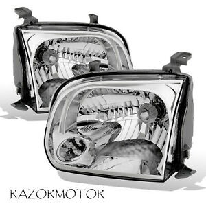 Replacement Headlight Pair For Toyota 2005 06 Tundra 2005 07 Sequoia W Bulb