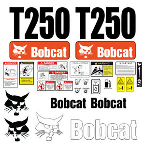 Bobcat T250 Turbo Skid Steer Set Vinyl Decal Sticker 25 Pc Free Shipping