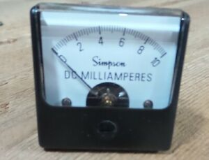 Simpson Panel Meter Model 1212 06165 Nos Out Of Box