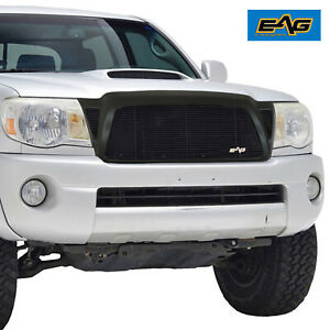 Eag Matte Black Aluminum Billet Grille Fit For 2005 2011 Tacoma