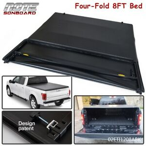 Folding Truck Bed Tonneau Cover For 2004 2008 Ford F 150 8ft Long Bed Four Fold