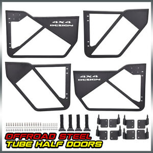 Iron Front Rear Tube Door For Jeep Wrangler Jk 4 Dr Car Accessories 07 2018