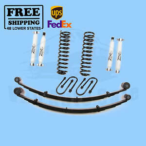 Zone 3 W rear Leaf Springs Lift Kit For 84 01 Jeep Cherokee Xj 4wd