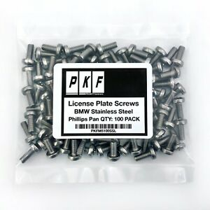 Stainless Steel License Plate Screws For Bmw Qty 100