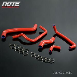 For Toyota 95 00 Levin Ae111 Ae101g 4a Ge 20v Red Silicone Radiator Hose Kit