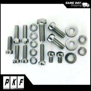 Stainless Steel Screw Fasteners Kit For Holley 94 Carburetor 21pcs