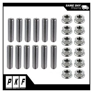 Stainless Steel Header Studs Bolt Kit For Small Block Chevy 283 327 350 400