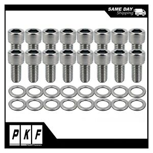 Sbf Stainless Steel Header Bolts For Small Block Ford 260 289 302 351 Windsor