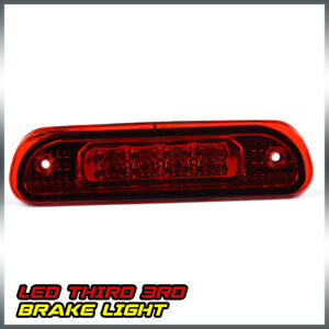 For 99 04 Jeep Grand Cherokee Chrome Red Cargo Lamp 3d Led Third 3rd Brake Light