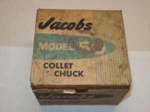 Jacob Model 50 Collet Chuck 10 Collets 100 1 062 1 1 2 X 8 Tpi South Bend