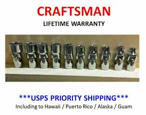 New Craftsman 10 Pc Mm 1 4 Drive Swivel Flex 6 Pt Socket Set Metric Wobble